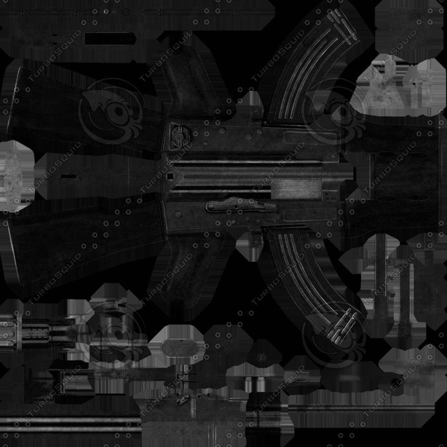 AK 47 Game Ready royalty-free 3d model - Preview no. 6
