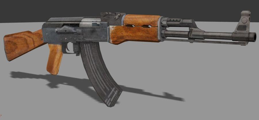 AK 47 Game Ready royalty-free 3d model - Preview no. 2