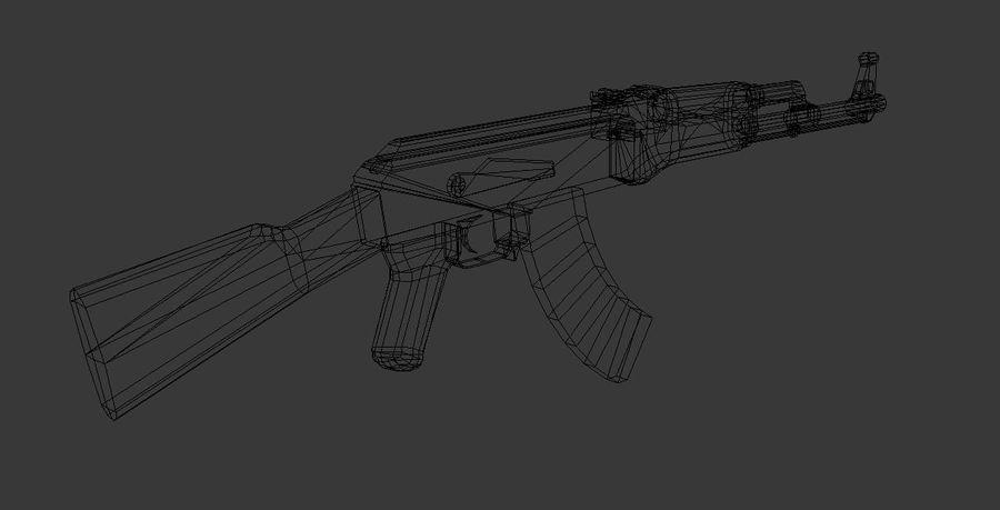 AK 47 Game Ready royalty-free 3d model - Preview no. 8