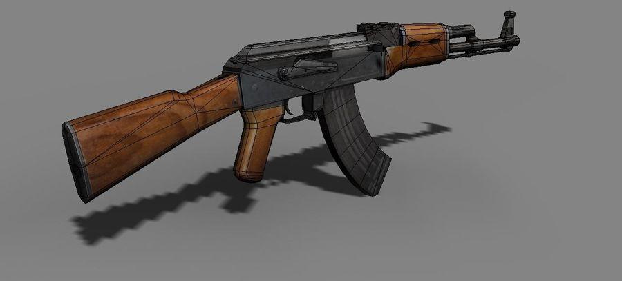 AK 47 Game Ready royalty-free 3d model - Preview no. 7