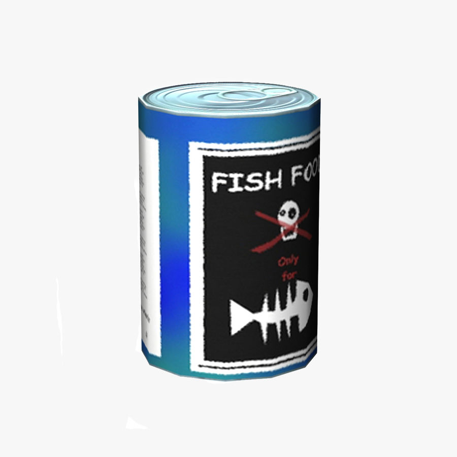 Fish Food Can royalty-free 3d model - Preview no. 1