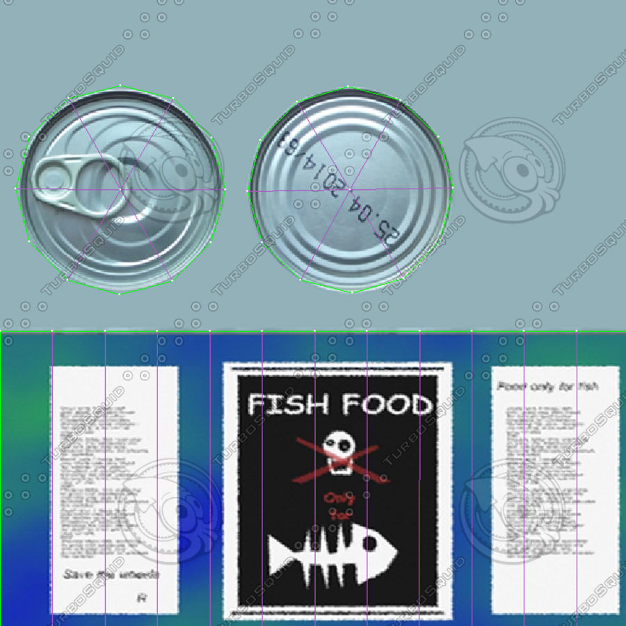 Fish Food Can royalty-free 3d model - Preview no. 7