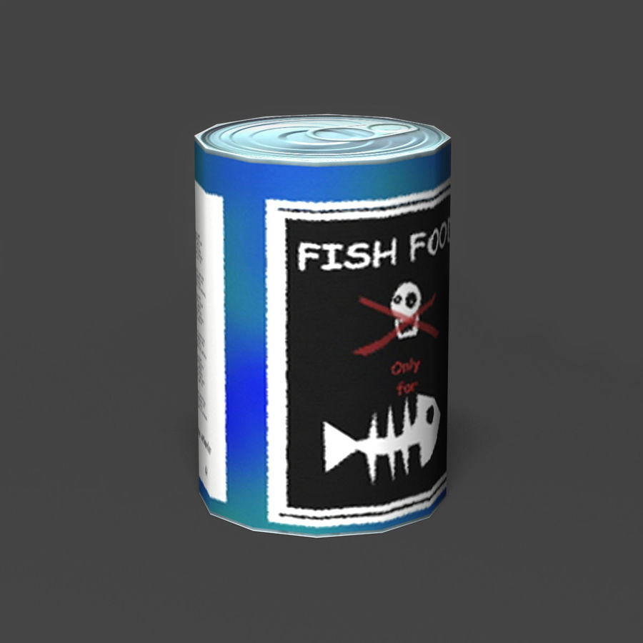 Fish Food Can royalty-free 3d model - Preview no. 2