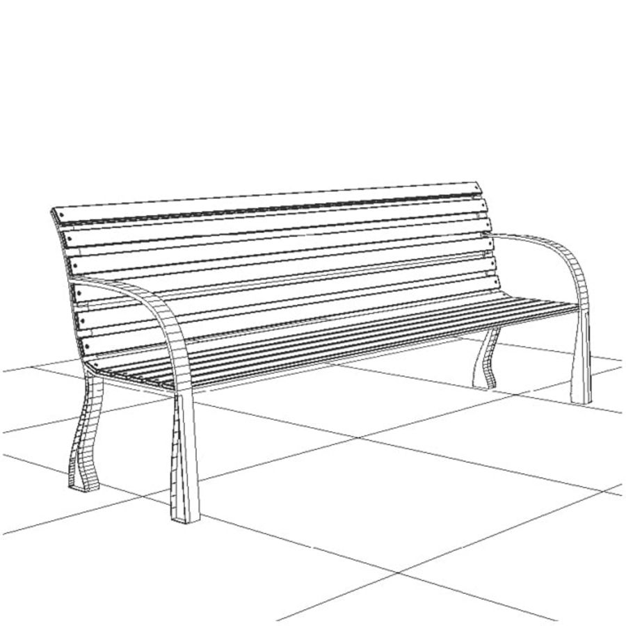 Park Bench royalty-free 3d model - Preview no. 2