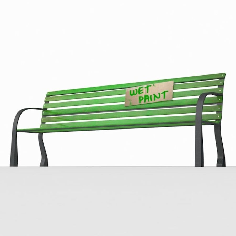 Park Bench royalty-free 3d model - Preview no. 3