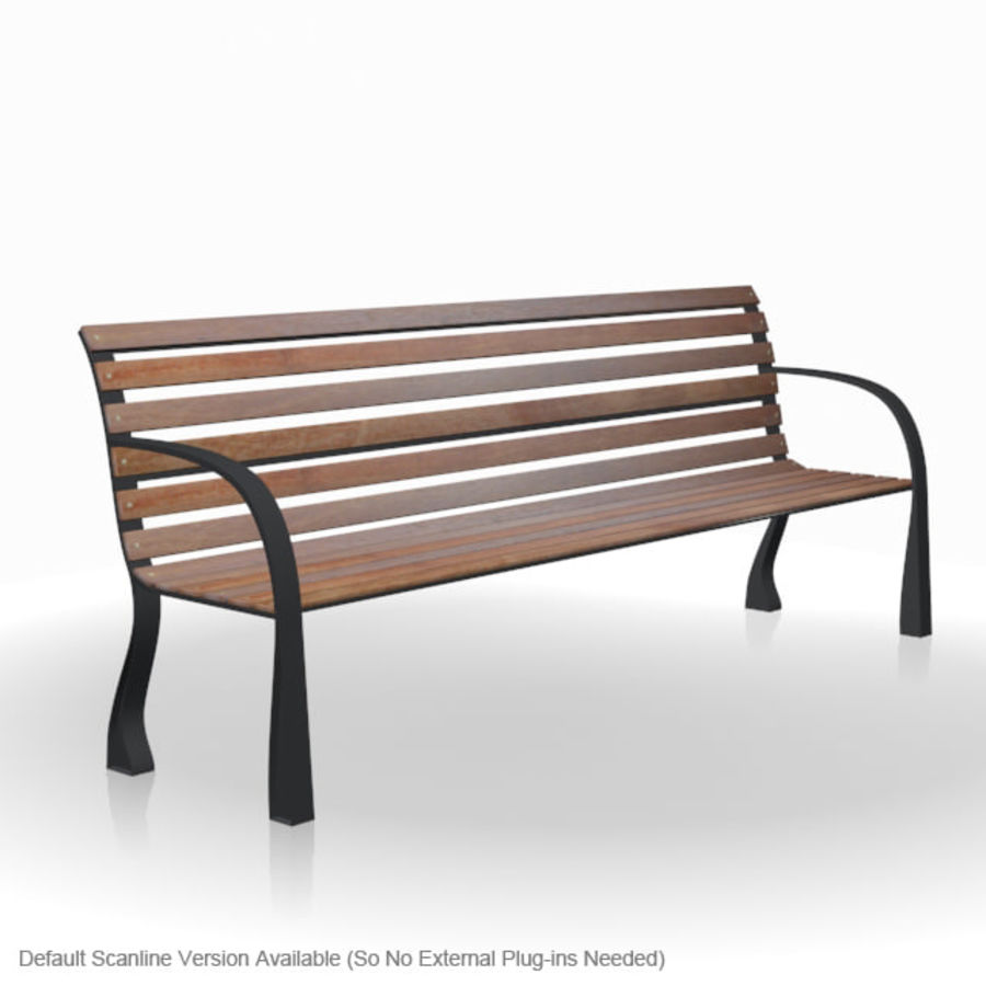 Park Bench royalty-free 3d model - Preview no. 7