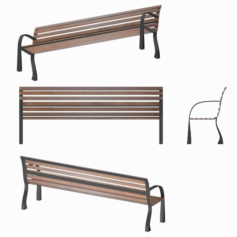 Park Bench royalty-free 3d model - Preview no. 6