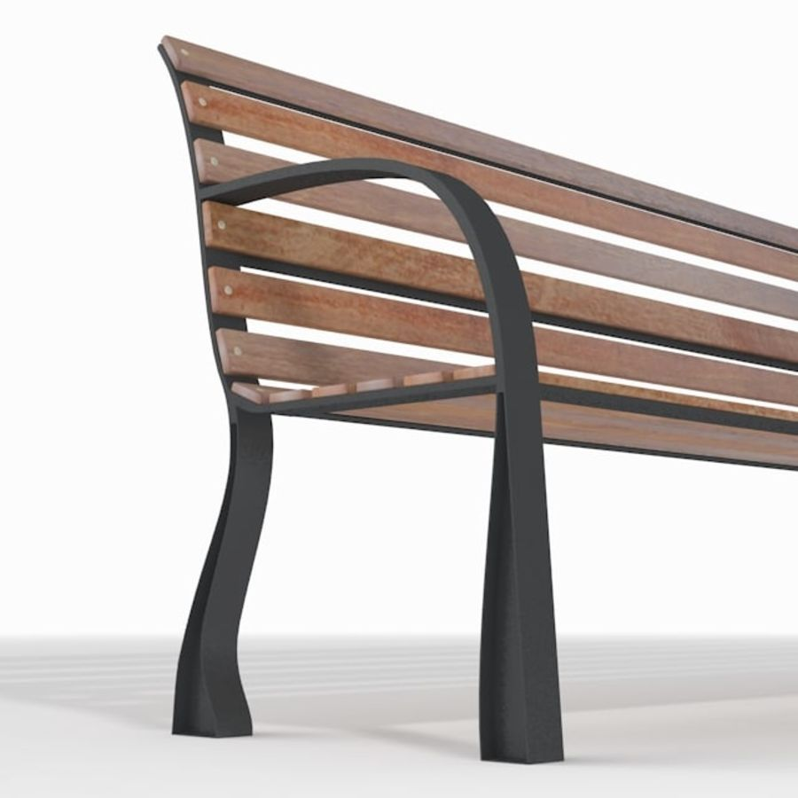 Park Bench royalty-free 3d model - Preview no. 4