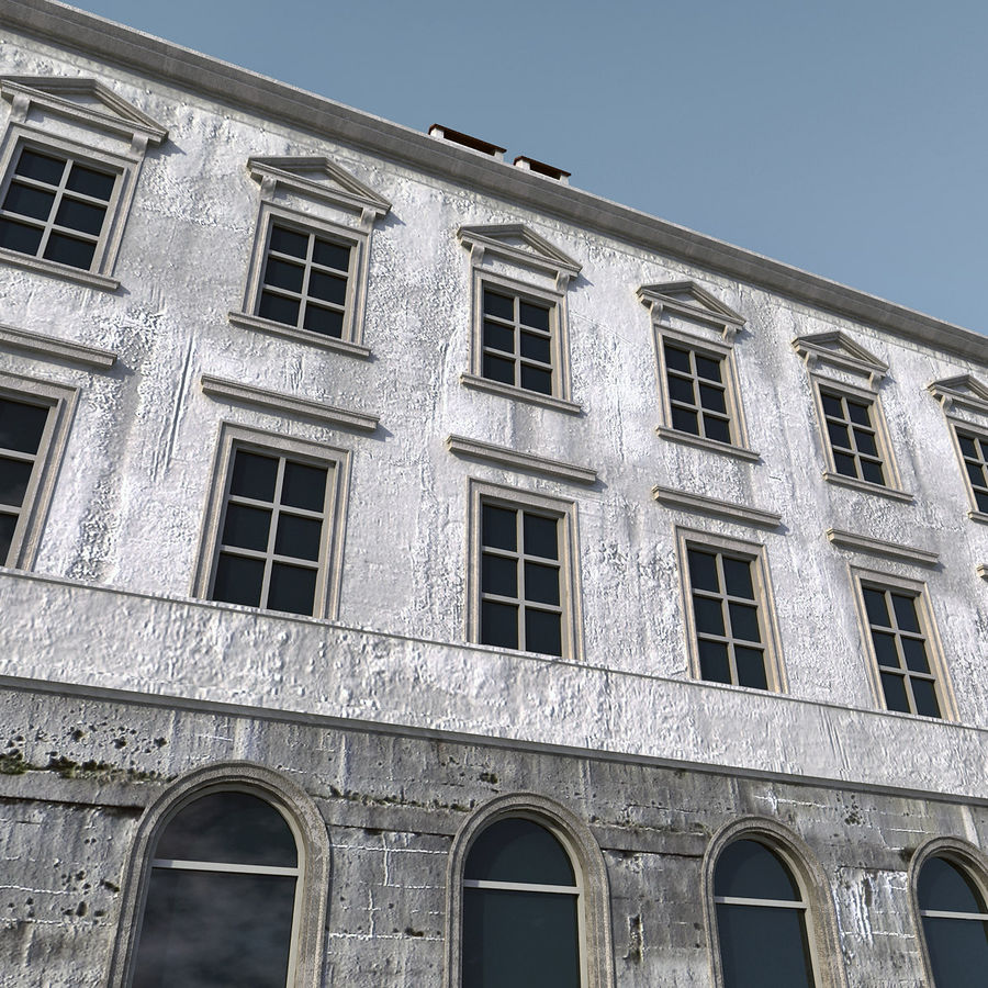 European Building 012 royalty-free 3d model - Preview no. 4