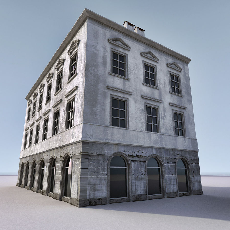 European Building 012 royalty-free 3d model - Preview no. 6