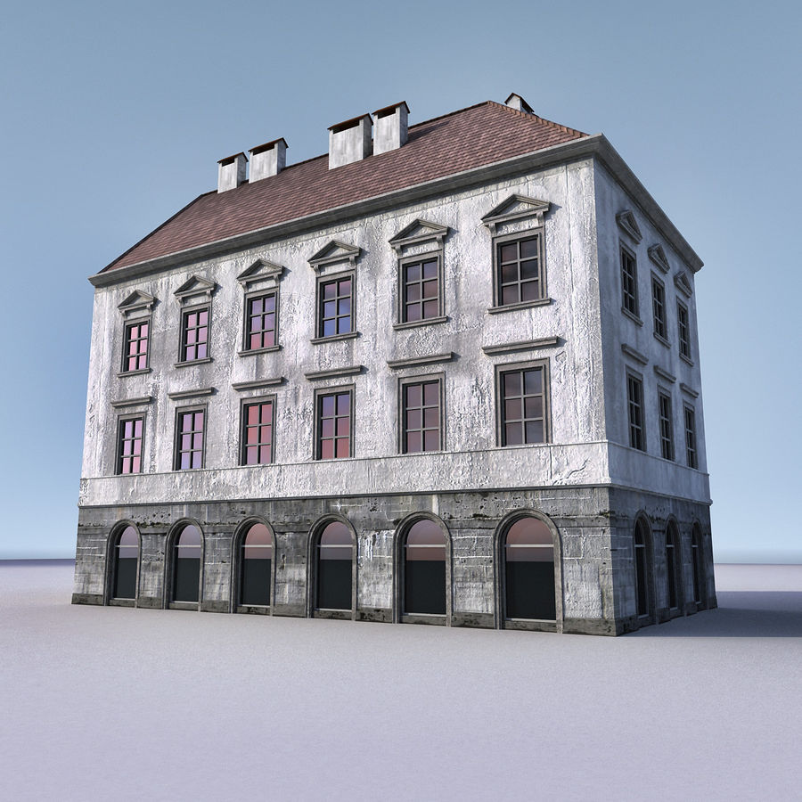 European Building 012 royalty-free 3d model - Preview no. 1