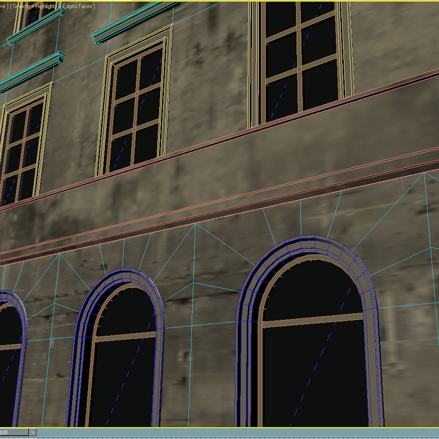 European Building 012 royalty-free 3d model - Preview no. 9
