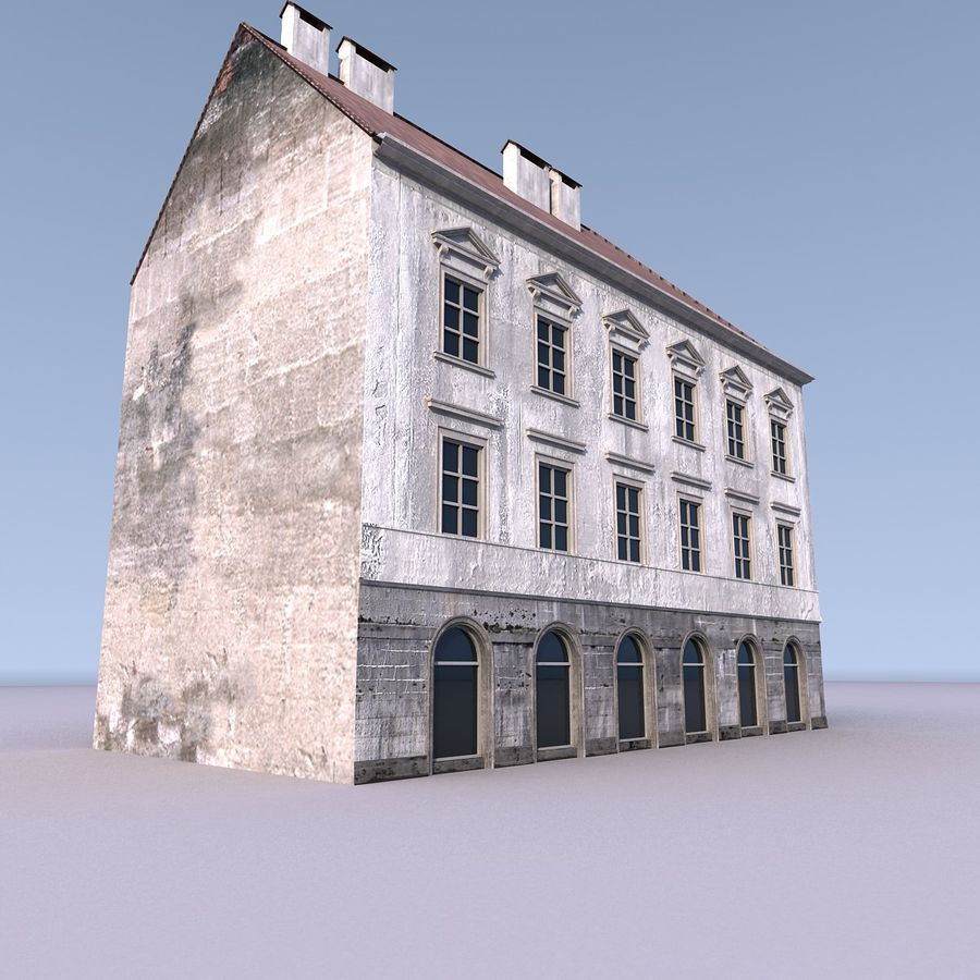 European Building 012 royalty-free 3d model - Preview no. 8