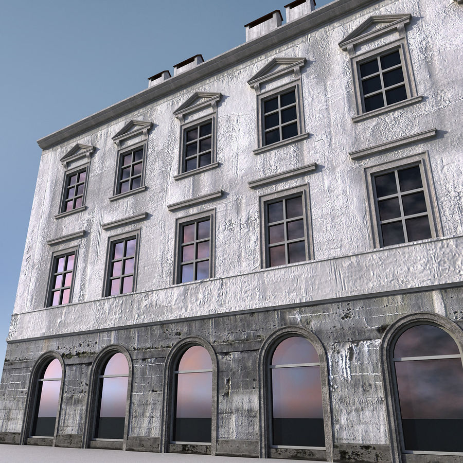 European Building 012 royalty-free 3d model - Preview no. 3