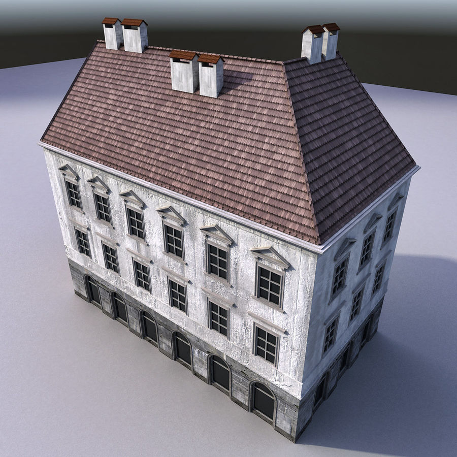 European Building 012 royalty-free 3d model - Preview no. 7