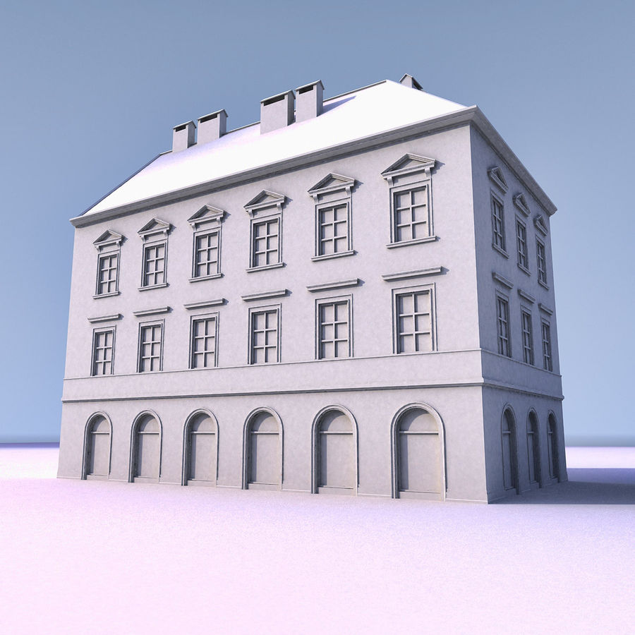 European Building 012 royalty-free 3d model - Preview no. 10