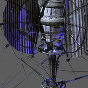 Da Vinci spaceship 3d model