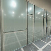 Glass Panel Wall System 1 3d model