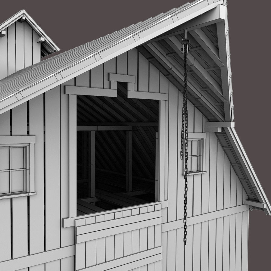 Red Barn royalty-free 3d model - Preview no. 15