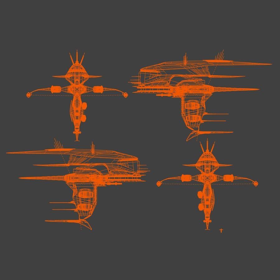 Alien royalty-free 3d model - Preview no. 10