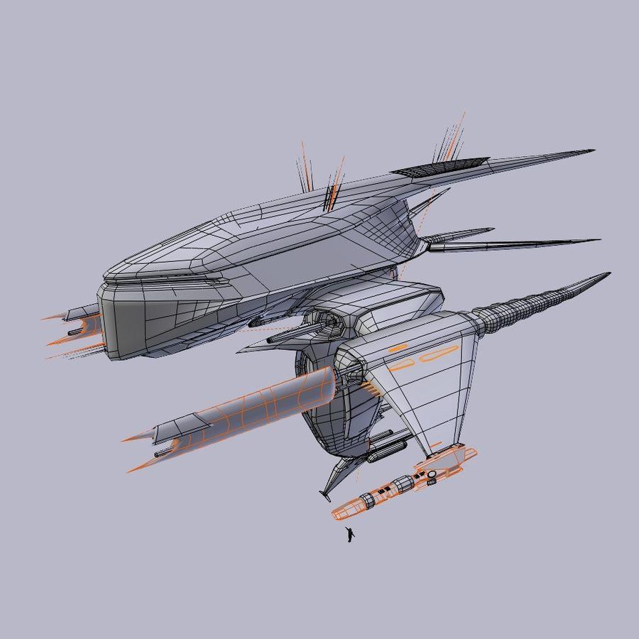 Alien royalty-free 3d model - Preview no. 4