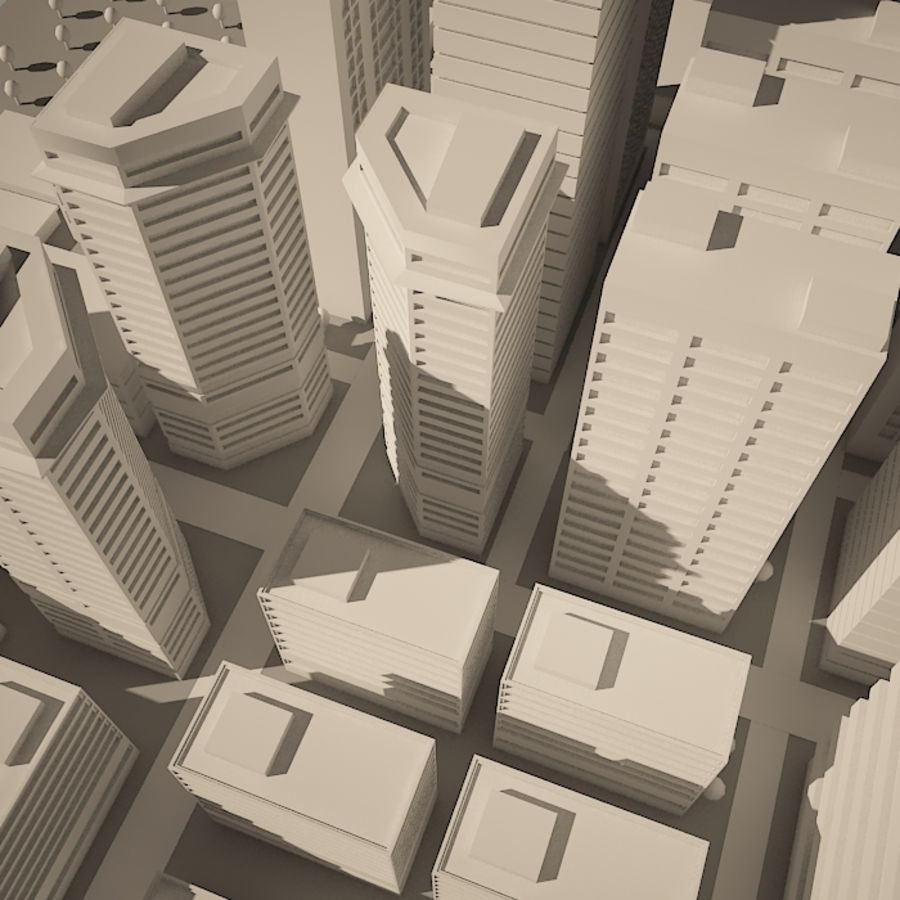 City simple model A royalty-free 3d model - Preview no. 15