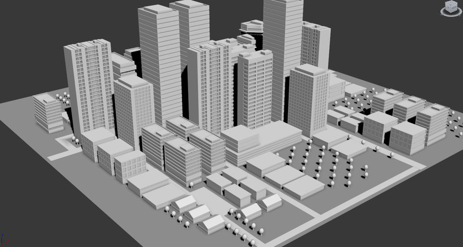 City simple model A royalty-free 3d model - Preview no. 2