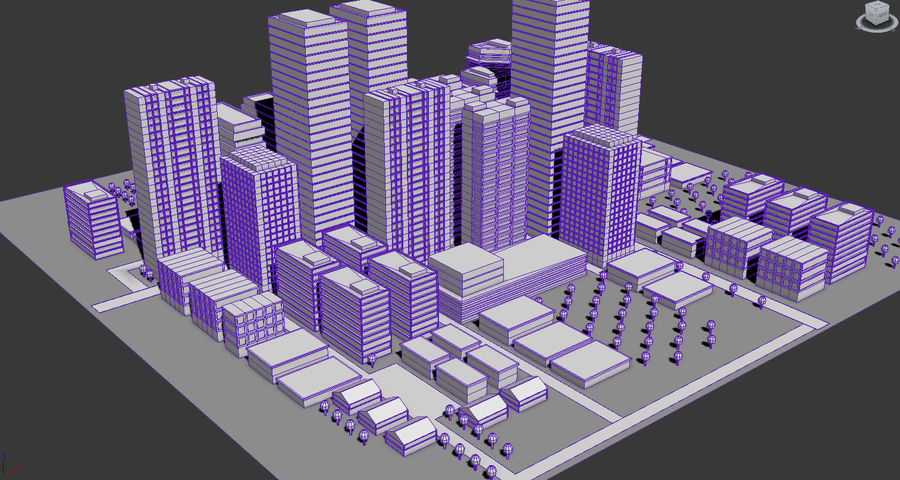 City simple model A royalty-free 3d model - Preview no. 3
