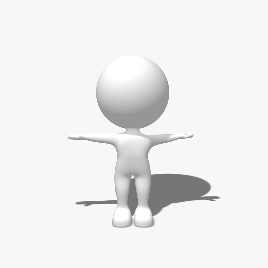 Simple Character royalty-free 3d model - Preview no. 1