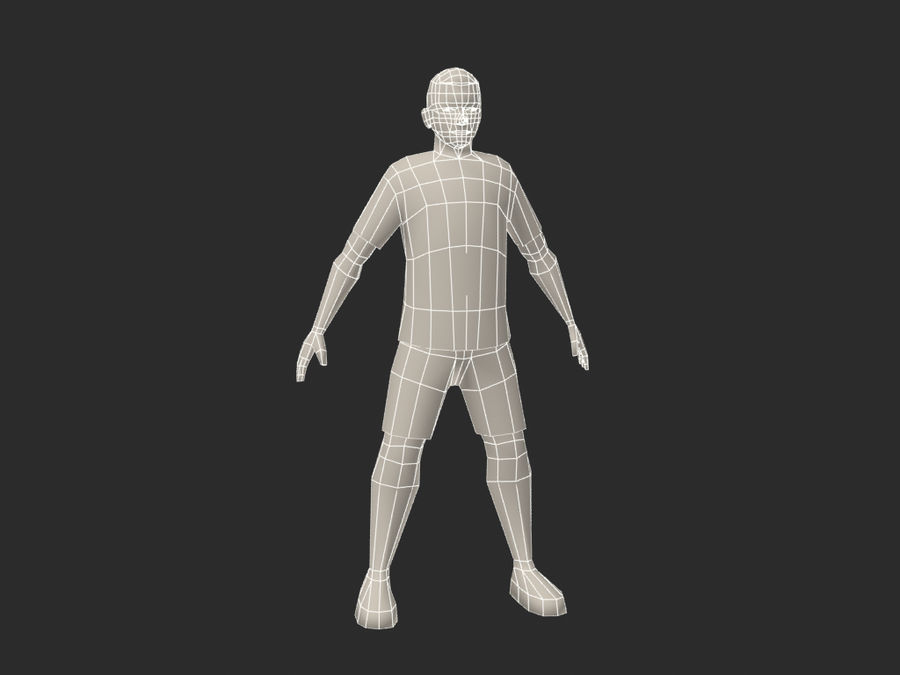 football (soccer) player royalty-free 3d model - Preview no. 6