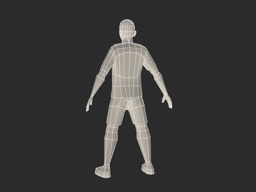 football (soccer) player royalty-free 3d model - Preview no. 7