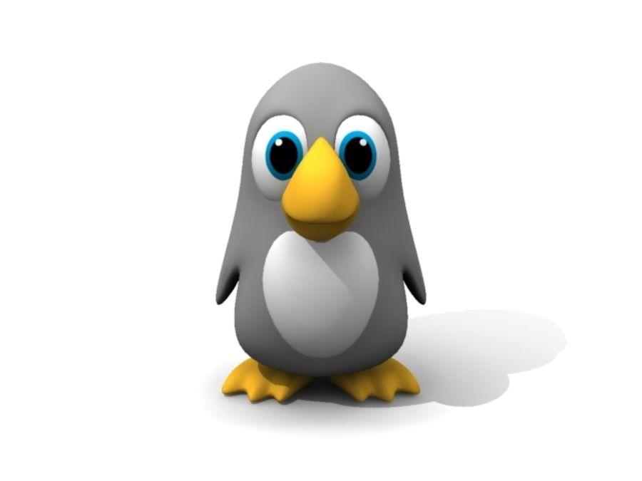 Cartoon Penguin royalty-free 3d model - Preview no. 2