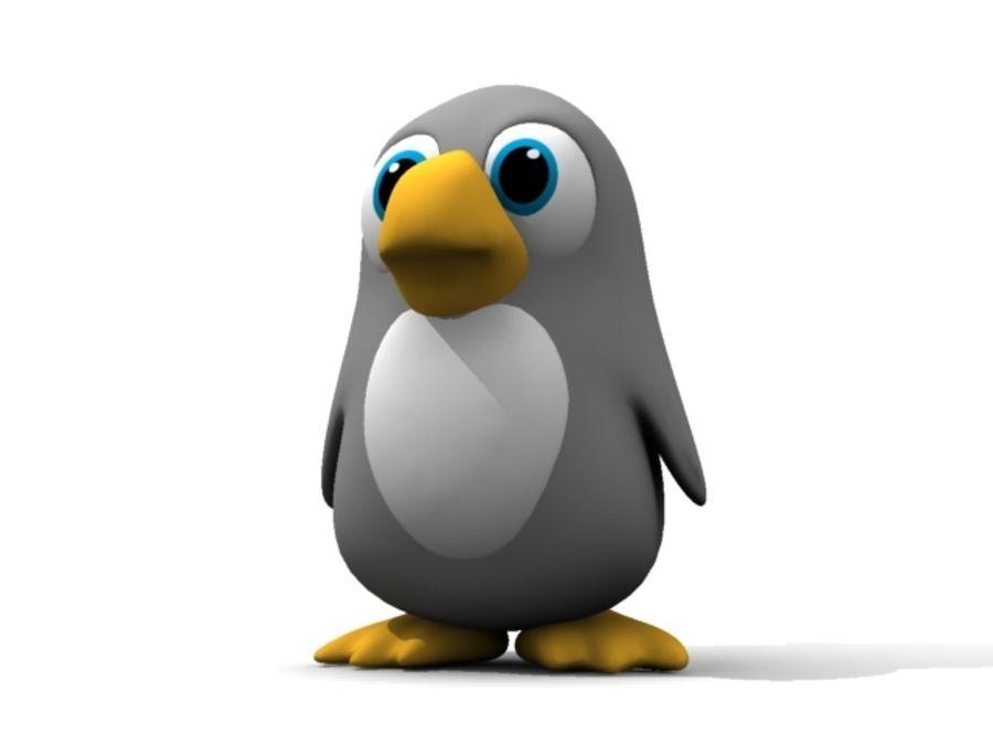 Cartoon Penguin royalty-free 3d model - Preview no. 3