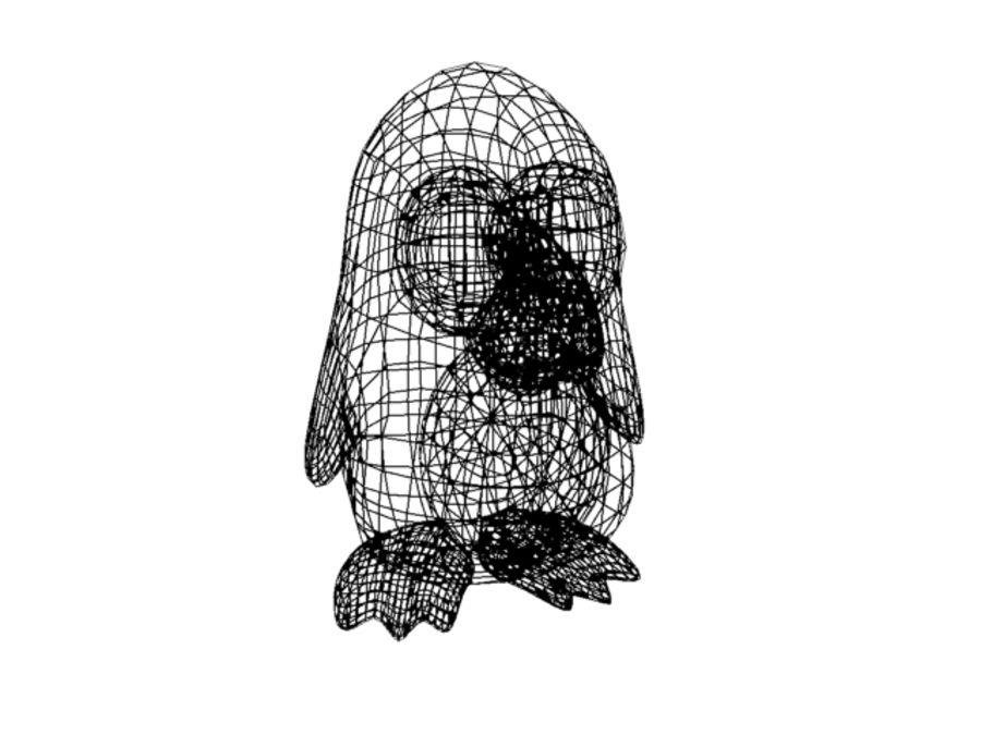 Cartoon Penguin royalty-free 3d model - Preview no. 6