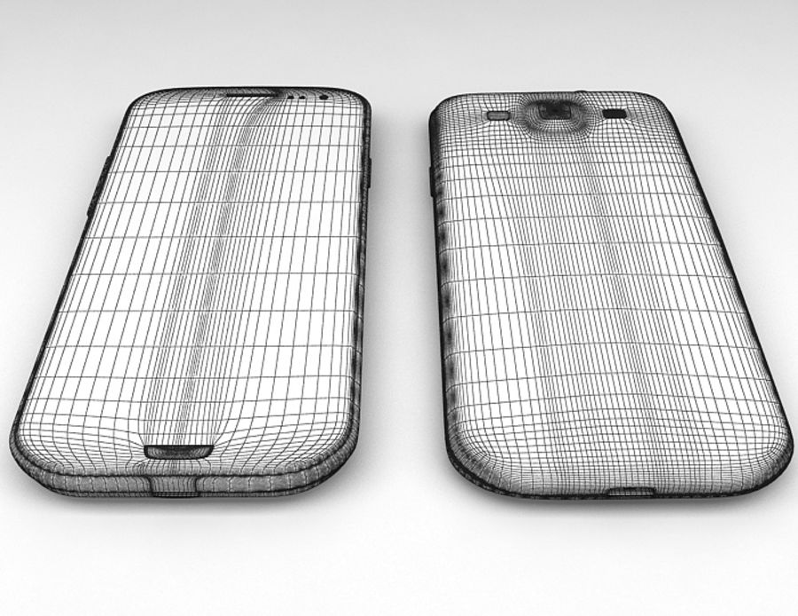 Samsung Galaxy S3 royalty-free 3d model - Preview no. 9
