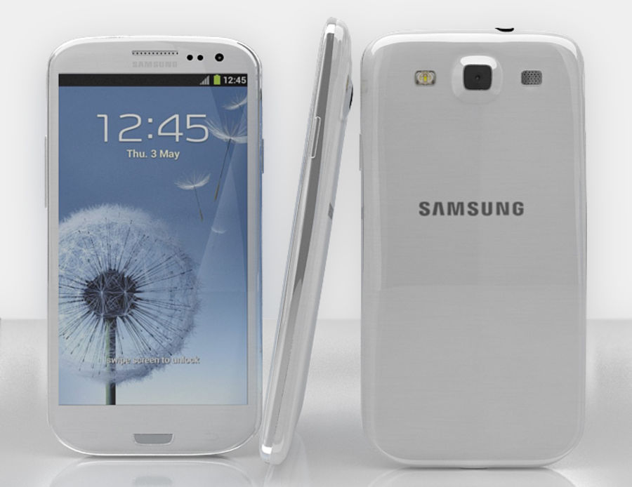 Samsung Galaxy S3 royalty-free 3d model - Preview no. 1