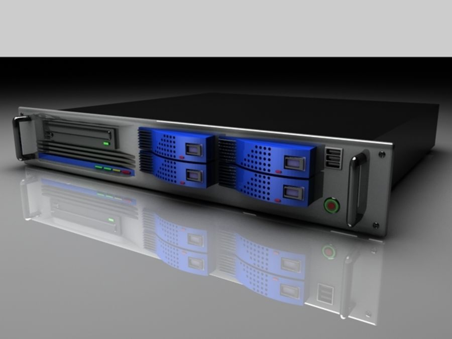 CPU-rack royalty-free 3d model - Preview no. 1