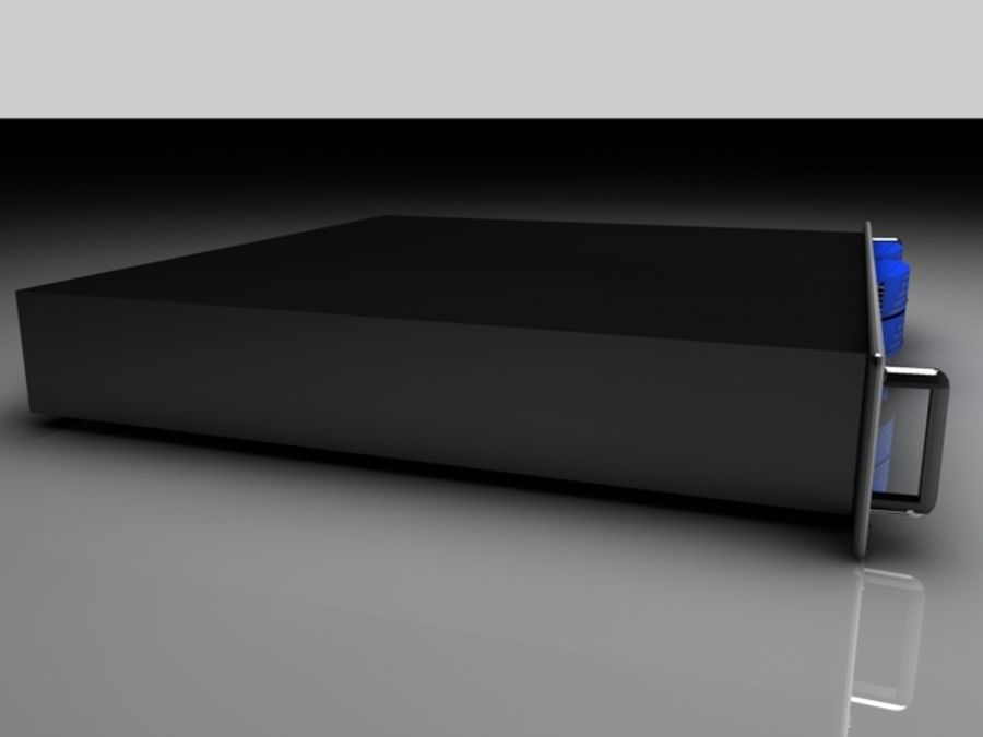 CPU-rack royalty-free 3d model - Preview no. 3