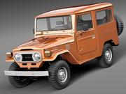 Toyota Land Cruiser FJ40 1960-1984 3d model