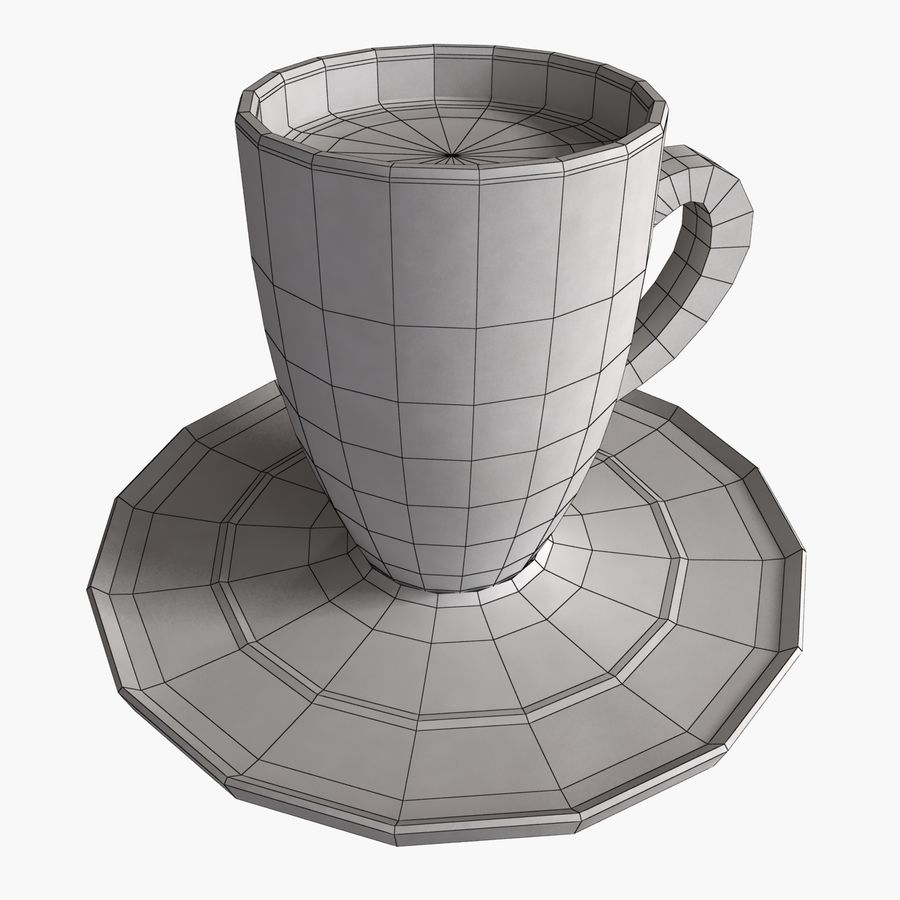 Coffee Art 2 royalty-free 3d model - Preview no. 6