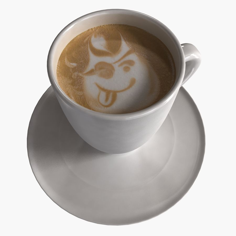 Coffee Art 2 royalty-free 3d model - Preview no. 2