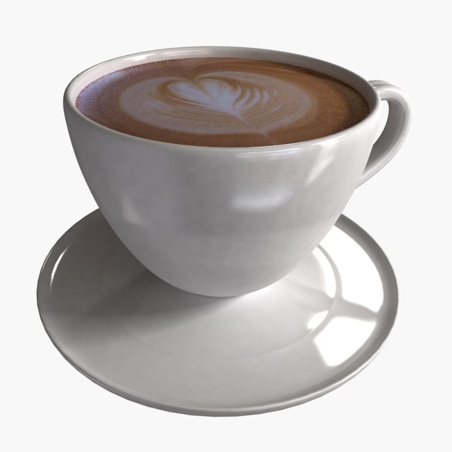 Coffee Art 3 royalty-free 3d model - Preview no. 1