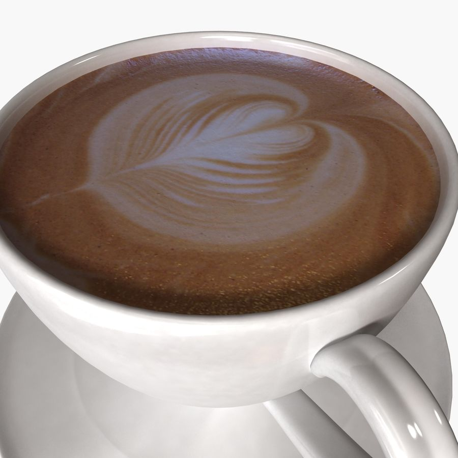 Coffee Art 3 royalty-free 3d model - Preview no. 2