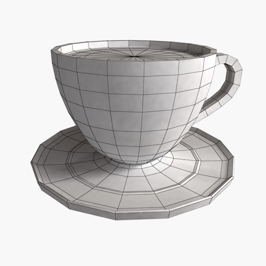 Coffee Art 3 royalty-free 3d model - Preview no. 6