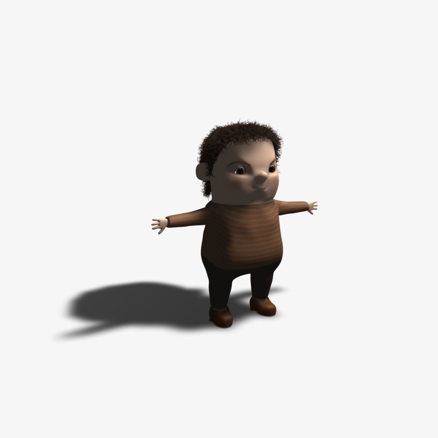 Cartoon Character royalty-free 3d model - Preview no. 1