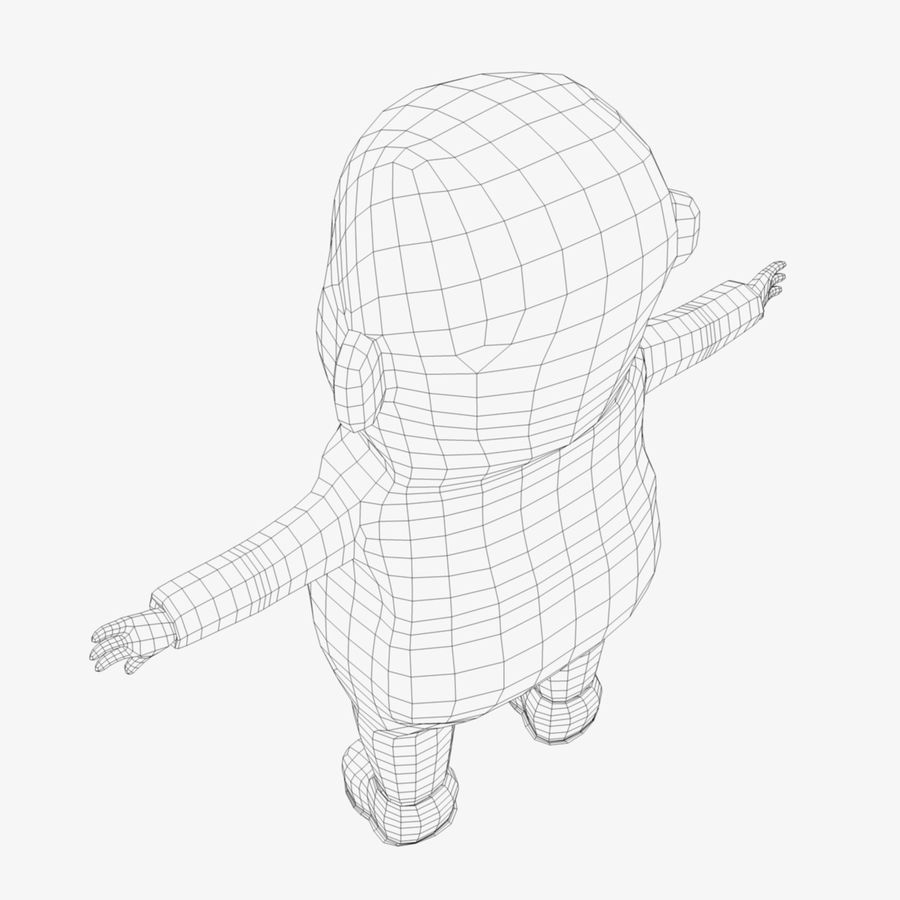 Cartoon Character royalty-free 3d model - Preview no. 10