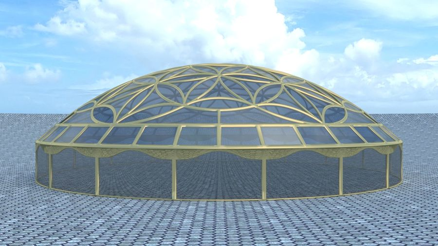 Flower of Life dome royalty-free 3d model - Preview no. 2