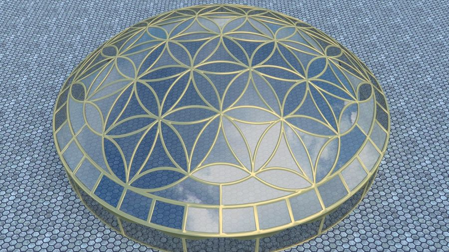 Flower of Life dome royalty-free 3d model - Preview no. 1