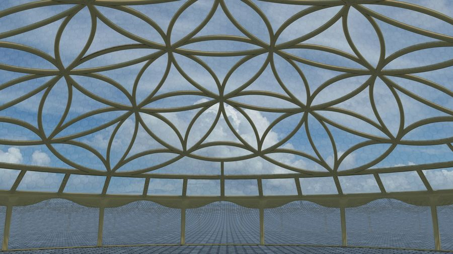 Flower of Life dome royalty-free 3d model - Preview no. 3