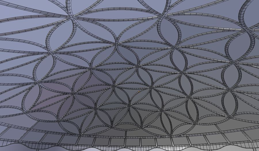 Flower of Life dome royalty-free 3d model - Preview no. 6